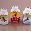Reutter Porcelain Trio of Asian Tea Canister Box Set
