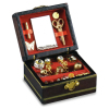 Reutter Porcelain Filled Jewelry Box Mirror Scissors Lipstick