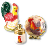Rooster Plate Decoration Set