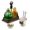 Reutter Porcelain Whiskey Decanter Set
