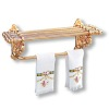 Reutter Brass Towel Rack With Victorian Rose Towels