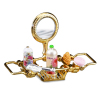 Reutter Porcelain Brass Bathtub Rack Set