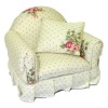 Reutter Comfy Upholstered Pink Rose Armchair