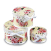 Reutter Ladies Lace Trimmed Floral Hat Boxes