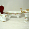 Reutter Porcelain Victorian Rose Bathroom Set