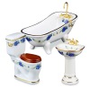 Reutter Porcelain Blue Rose Bathroom Set
