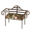 Reutter Porcelain Cushioned Metal Garden Loveseat Bench