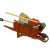 Reutter Harvest Filled Wood Wheelbarrow with Working Wheel
