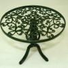 Reutter Green Metal Scrollwork Garden Table