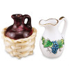 Reutter Porcelain Wine Jug and Pitcher Set