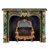 Ornate Reutter Green Gilded Marble Fireplace