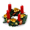 Reutter Christmas Wreath with Red Candles Table Centerpiece