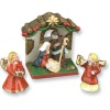 Reutter Porcelain Christmas Nativity Creche Set with Angels