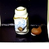 Reutter Porcelain Tobacco Jar and Pipe Smoking Set