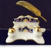 Reutter Porcelain Victorian Letter Holder Set