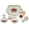 Reutter Porcelain Sparkling Crown Tea Service Set
