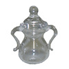 Covered Clear Glass Sugar Bowl