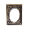 Antiqued Metal Tabletop Picture Frame Oval Opening