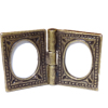 Antiqued Metal Double Tabletop Picture Frame