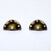 Miniature Antiqued Half Round Door or Drawer Pulls