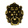 Miniature Antiqued Lion Head Door Knocker