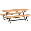 Fancy Wood and Metal Picnic Table Set