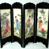 Chinese Folding Screen with Exotic Asian Geisha Girls