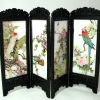 Chinese Folding Screen with Exotic Birds Scenes