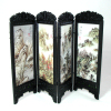 Chinese Folding Screen with Mountain Scenes