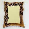 Antiqued Copper Flower Mirror