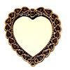 Antiqued Copper Heart Mirror