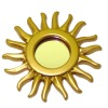 Gilded Art Deco or Mid Century Modern Sunburst Mirror