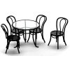 Clear Top Metal Garden Patio or Diner Table and Chairs Set