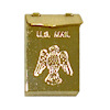 Opening Brass Mailbox with Eagle