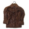 Miniature Textured Leather Look Jacket On Hanger
