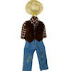 Handcrafted Western Cowboy Outfit on Hanger