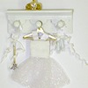 Handcrafted Shadow Box Ballerina Ballet Wall Rack White Tutu