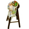 Handcrafted Wood Artist Stool With Apron and Palette