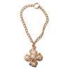 Artisan Crafted Maltese Cross Necklace with Pearls