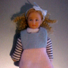 Susannah Donnelly Hand Painted Poseable Dollhouse Girl Doll