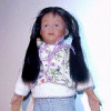 Brianna Diaz Hand Painted Poseable Hispanic Dollhouse Girl Doll