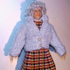 Grandma Blanche Hand Painted Poseable Dollhouse Doll