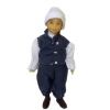James Phelps Hand Painted Poseable Colonial Dollhouse Boy Doll