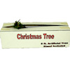 Christmas Tree Box with Tree Branch Peeking Out