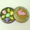 Easter Eggs in Bunny Rabbit Tin
