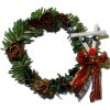 Christmas Wreath with Red Nose Reindeer and Pine Cones