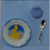 Baby Bowl and Cup and Spoon Set - Blue