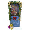 Christmas Door With Nativity Design and Garland