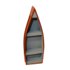 Red Wood Row Boat Bookcase Curio Shelf Unit
