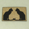 Handcrafted Cats Welcome Mat Doormat